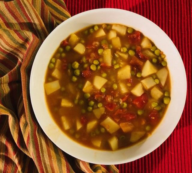 10 Easy One Pot Vegan Meals aloo matar soup
