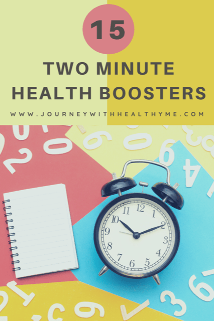 15 Two Minute Health Boosters title meme