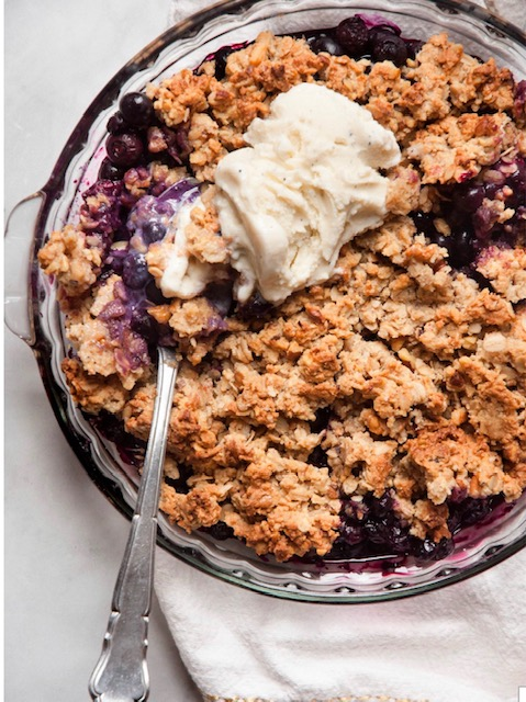 Recipes for National Blueberry Day crisp