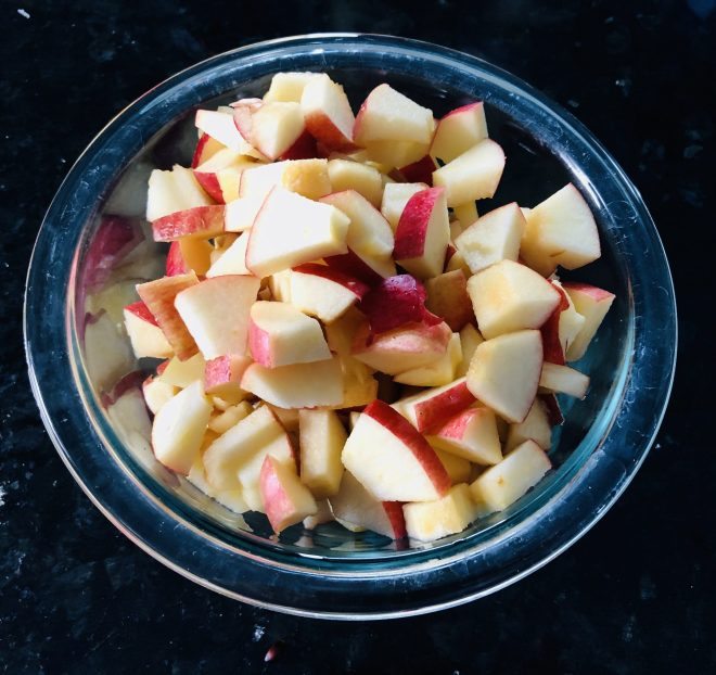 Healthy Fried Apples diced