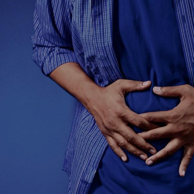 Negativity's Impact on Health stomachache