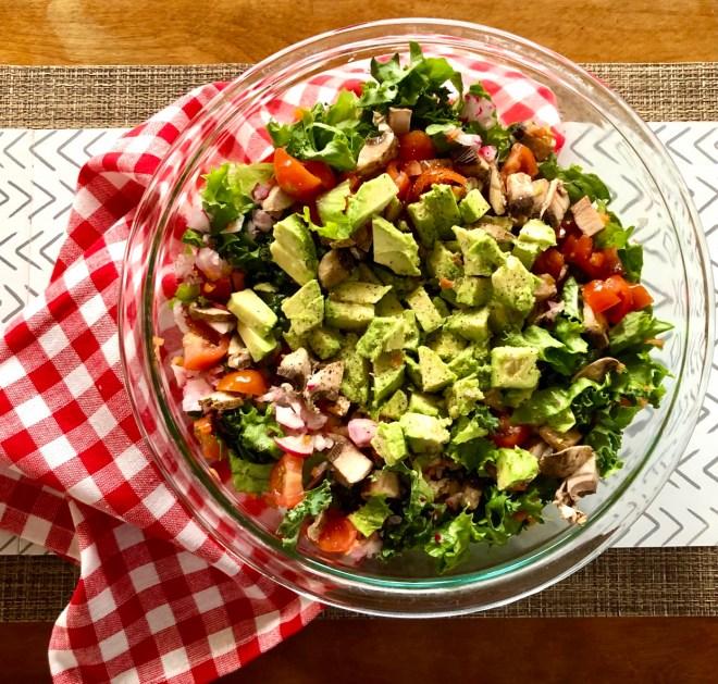 Eight Fresh Salads chopped veggies