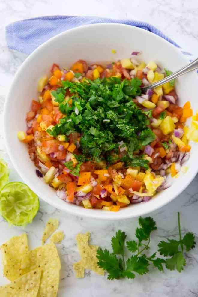 Six Easy Vegan Salsa Recipes pinapple
