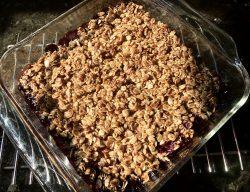 Easy Vegan Blueberry Crumble baked