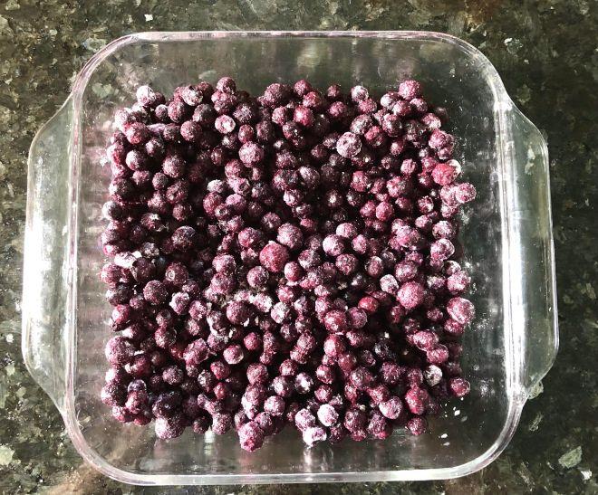 Easy Vegan Blueberry Crumble wild berries