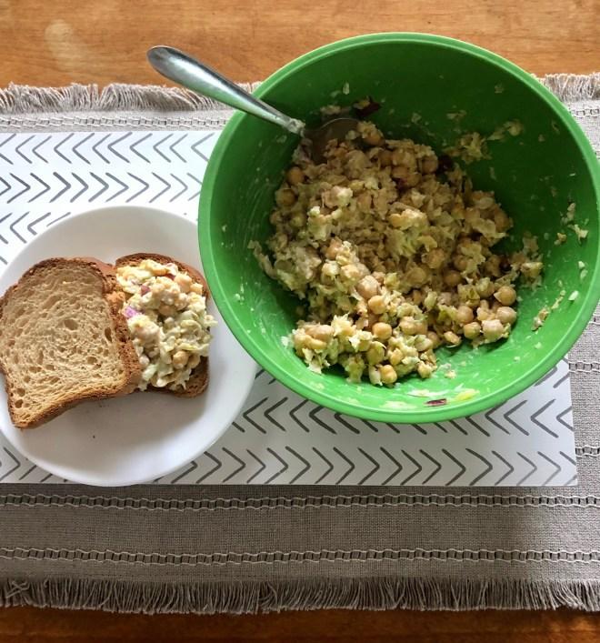 Summer Picnic Vegan Style chickpea salad