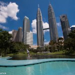 Petronas Towers, Kuala Lumpur, from the children's pool