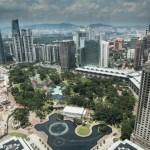 View from the skybridge of Petronas Towers, Kuala Lumpur