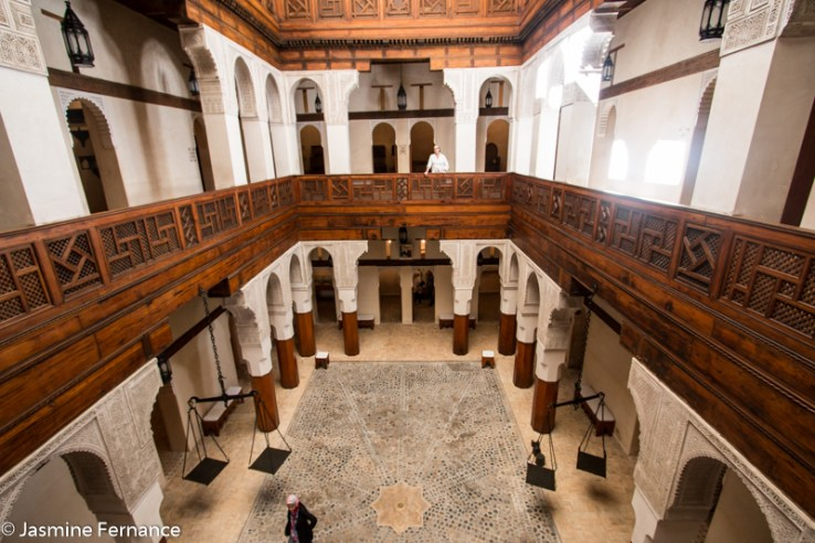 The interior of Nejjarine Museum, Fes, Morocco