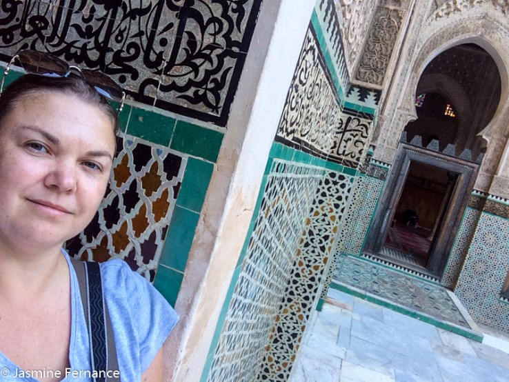 Jasmine Fernance in Medersa Bou Inania