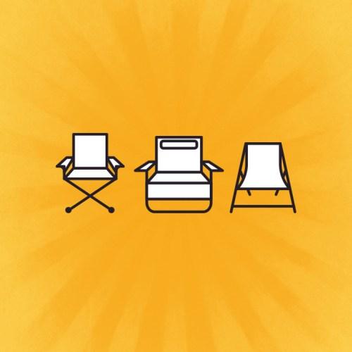 Folding sun loungers