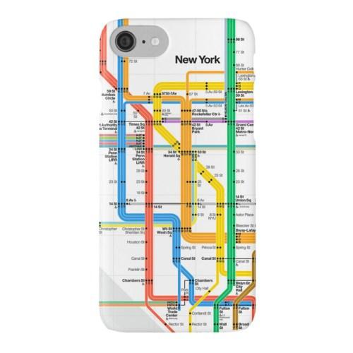 MTA NYC Subway Map iPhone Case