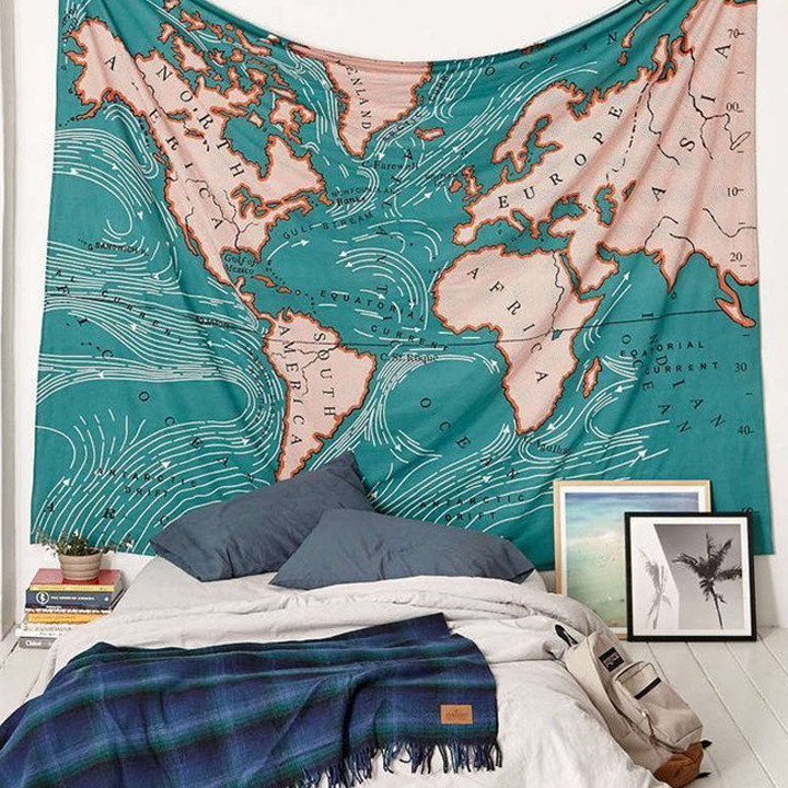 World Ocean Currents tapestry
