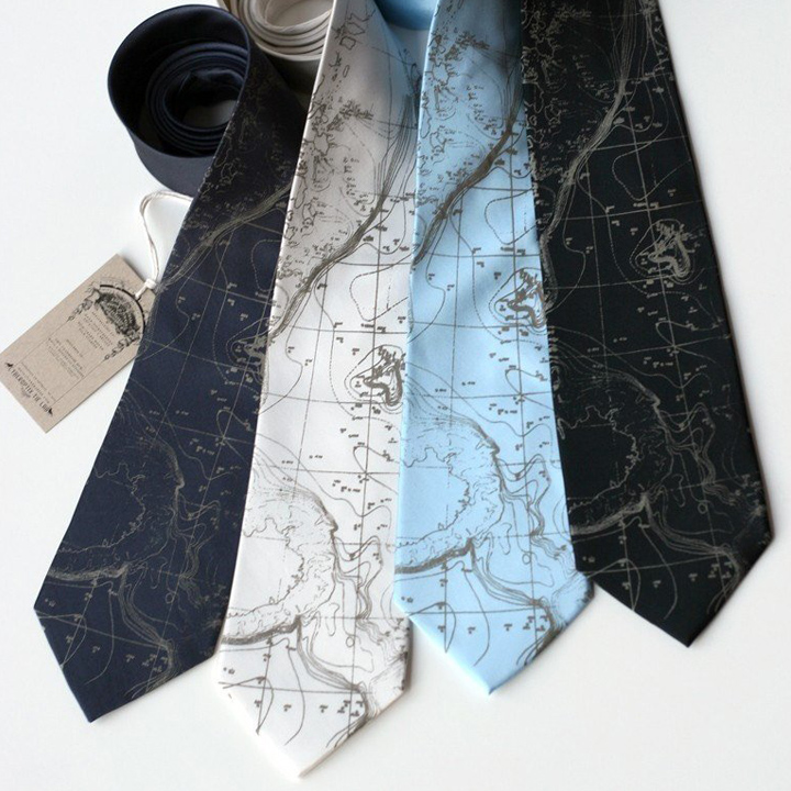 Map Necktie