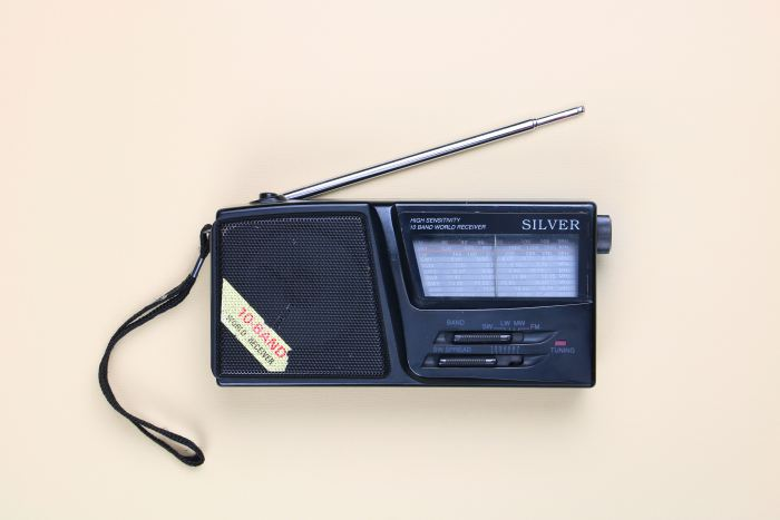 an old school radio