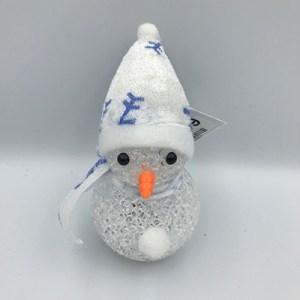 Sneeuwpop wit met LED verlichting
