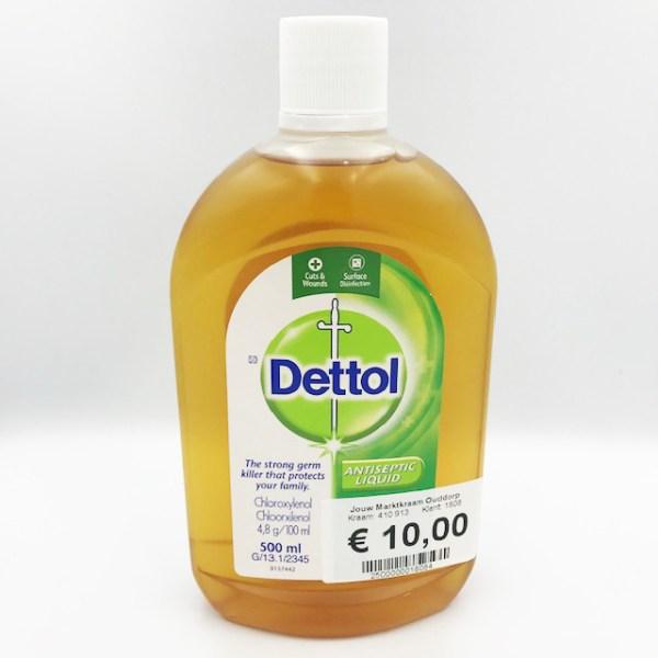 Dettol Ontsmettingsmiddel 500 ml.