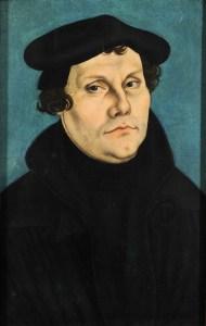 Martín Lutero, por Lucas Cranach el Viejo