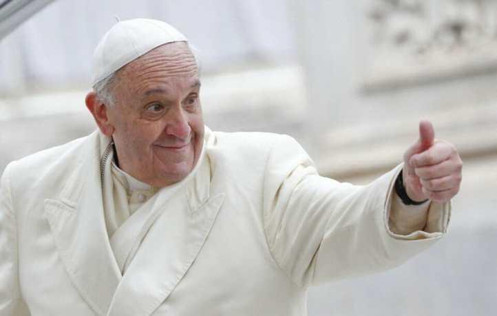 Papa Francisco conversa com Jovens Católicos