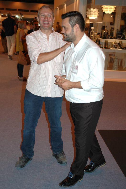 Ceremonia de entrega de premios - Permio AJA 2015 - D. Carlos Pereira Calviño con D. Rafael Alemáñ