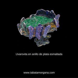 Tabata Morgana - Anillo de plata esmaltada con uvarovita