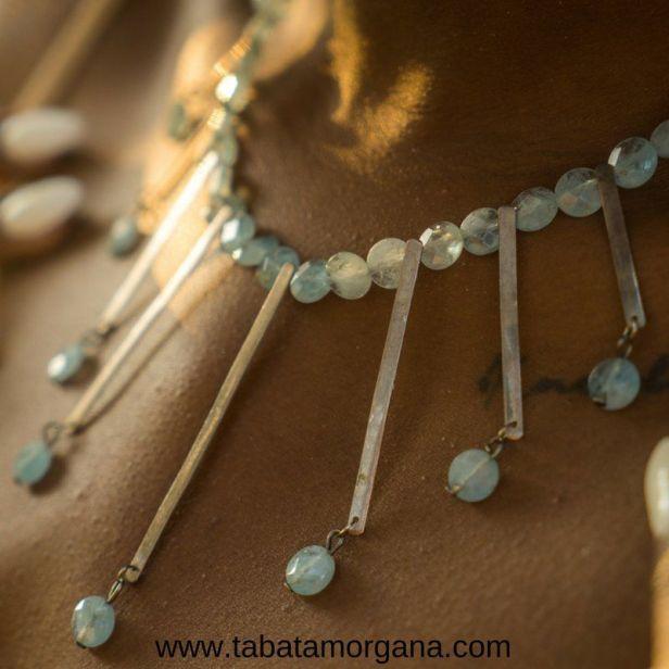 Tabata Morgana - Collar de aguamarinas y plata