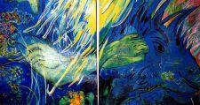 Charo Marín - La fantasía y la realidad (óleo)