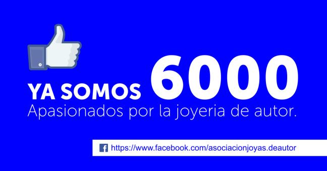 Asociación Joyas de Autor 6000 likes en Facebook