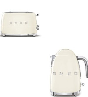 Smeg Cream Kettle and Toaster Bundle