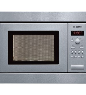 Bosch Brushed steel Compact microwave oven HMT75M551B