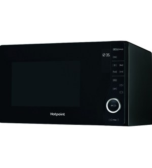 Hotpoint 800w 25ltr, Ultimate Collection Black Microwave