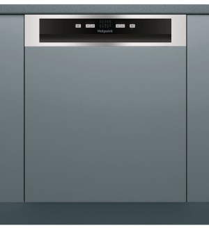 Hotpoint Semi-Integrated 13 Place Dishwasher Stainless Steel HBC2B19X
