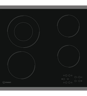 Indesit  Aria 60cm  4 Zone Ceramic Hob with Steel Frame | RI 261 X