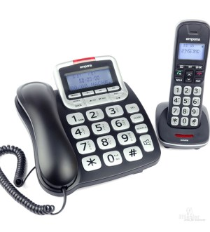 Emporia Large Button Corded & Cordless Phones with Voicemail | GD61ABB