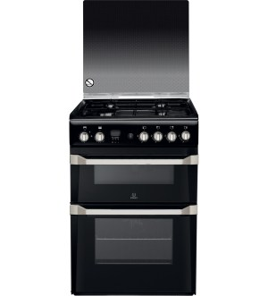 Indesit 60cm Gas Cooker Black | ID60G2(K)/UK