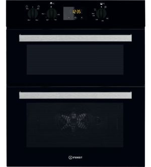 Indesit Aria Electric Built-under Oven in Black | IDU 6340 BL