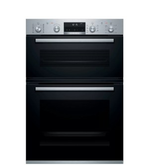 Bosch Serie 6 Built in Double Oven Brushed Steel | MBA5785S6B