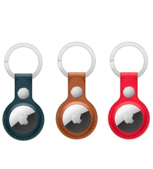 Apple AirTag Leather Key Ring Holder