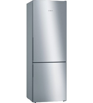 Bosch Serie 4 Tall Low Frost Fridge Freezer 70/30 Stainless Steel | KGE49AICAG