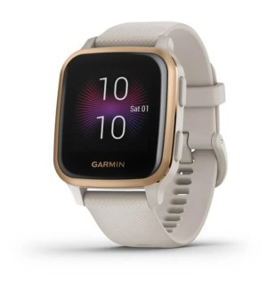 Garmin Venu Sq Music Edition Rose Gold Bezel with Light Sand Case & Silicone Band | 00-02426-11