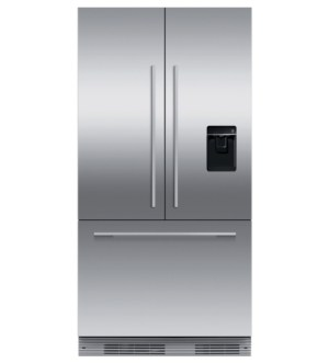 Fisher Paykel 90cm Built-in French Style Fridge Freezer with Ice & Water   RS90AU2