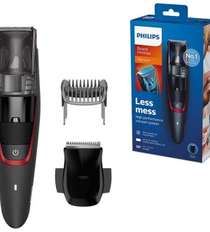 Philips Beard & Stubble Trimmer for Men, Series 7000, 20 Length Settings with Integrated Vacuum System for Less Mess, Self-Sharpening Metal Blades | BT7500/13