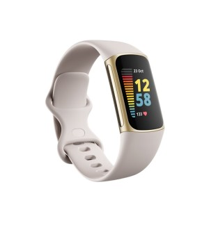 Fitbit Charge 5 Fitness & Health Tracker | White & Gold | FB421GLWT