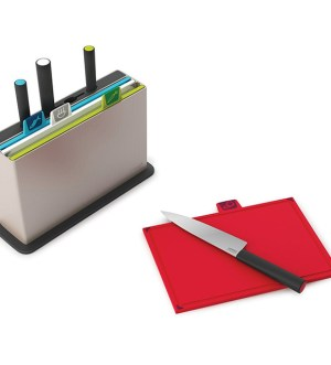 Joseph Joseph Index 8-Piece Large Chopping Board Set with Knives- Multi-Color | 60096