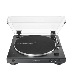 Audio Technica Bluetooth Turntable Record Player in Black | ATLP60XBKBT