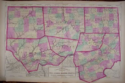 1890s Map of Tioga County PA