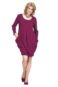 plum day dress for Christmas outfit