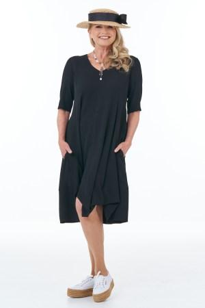 Black Summer Bubble Dress