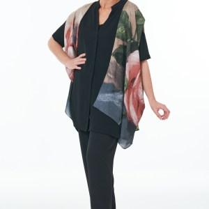 Black Trousers and Silk Kimono