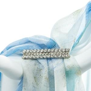 Double Tier Straight Diamanté Buckle Accessories